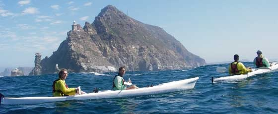 Paddle with a kayak at Cape Point, South Africa