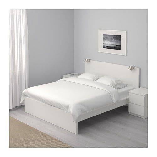 Malm Bed Frame High White Luroy Standard Double Malm Bed
