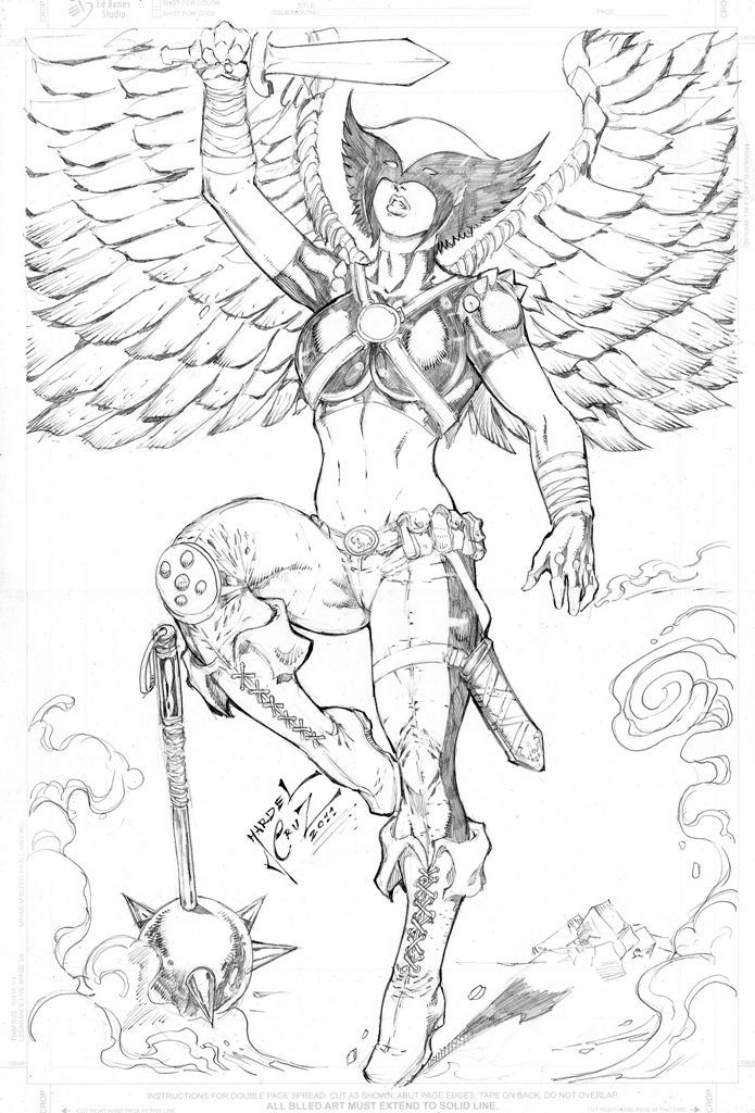 coloring pages hawkgirl | Hawkman Pages Coloring Pages