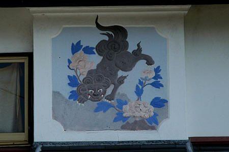 旅の途中で見た鏝絵   福岡県上毛こうげ町