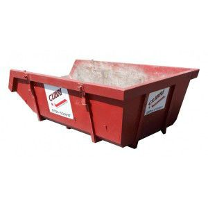 Open 6m³ container voor grofvuil