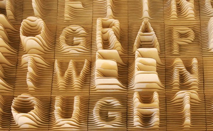 Synoptic Office: 3D Shape, Offices Design, English Language, Woods Slices, Alphabettopographi, Alphabet Topographi, Synopt Offices, Design Studios, 3D Typography