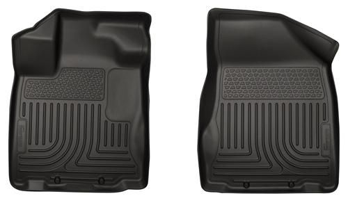18661 Husky Liners WeatherBeater Black Front Floor Liners Fitment 2013-2015 Nissan Pathfinder