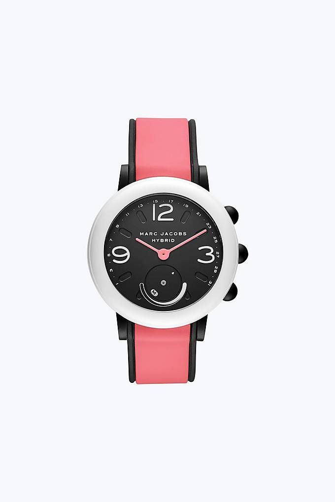 3f417c71f8985 Marc Jacobs Riley Hybrid Smartwatch in Black/Pink | Marc Jacobs ...