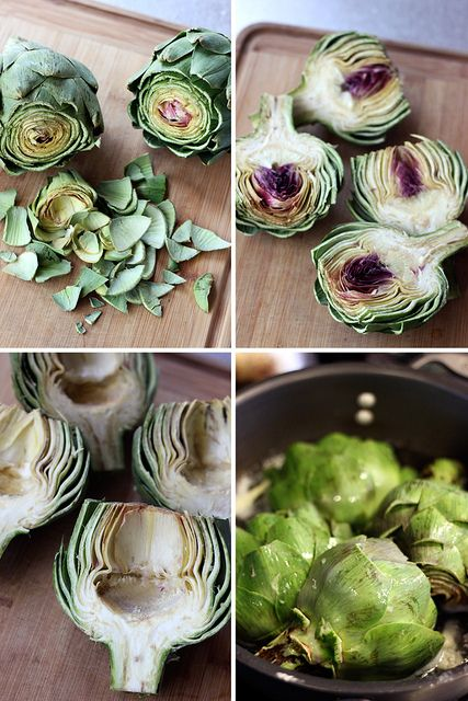 how to prep and steam artichokes for grilling