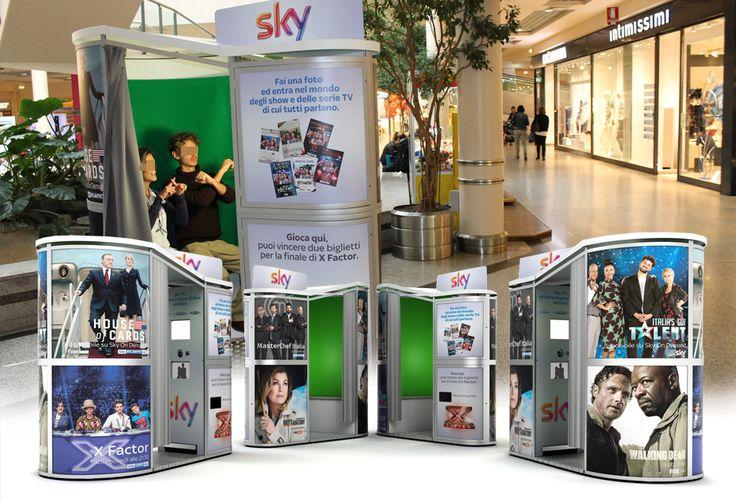 Fotobox mieten - Italien und die Sky TV Roadshow