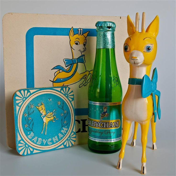 I remember my dad giving my mum one of these little Babycham bambi's and she kept it on top of a mirror and I remember looking up at it when I was small.