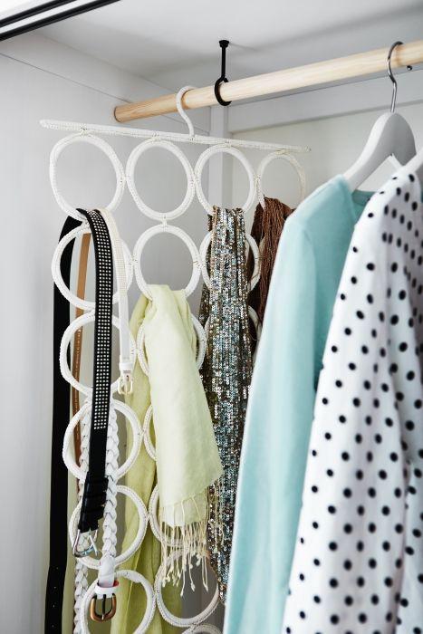 KOMPLEMENT multihanger | #IKEA #DagRommel #riemen #shawls #kastinrichting #PAX