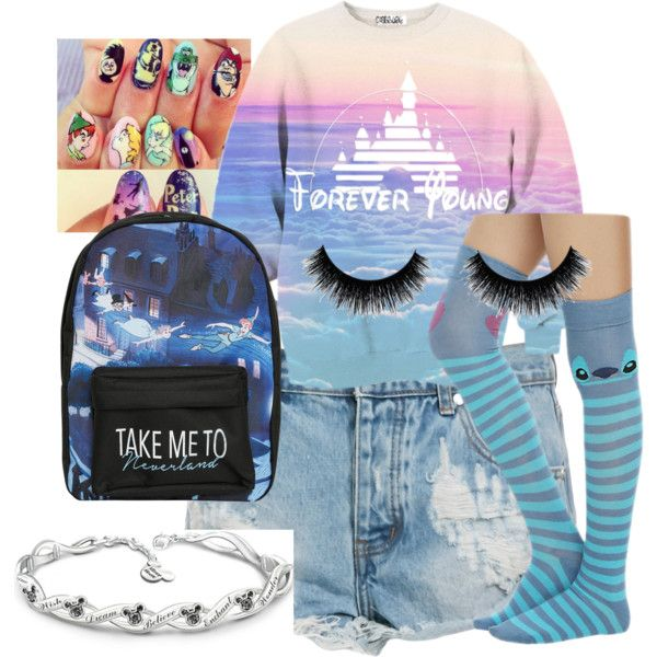 Disney fan by rowniezhao on Polyvore featuring polyvore, fashion, style, One Teaspoon, Disney and The Bradford Exchange