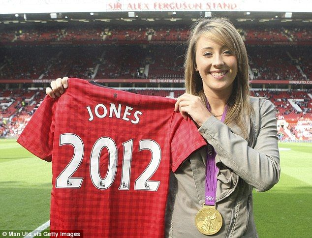 Special guest: British Olympic taekwondo gold medallist Jade Jones was presented with a United shirt before the game