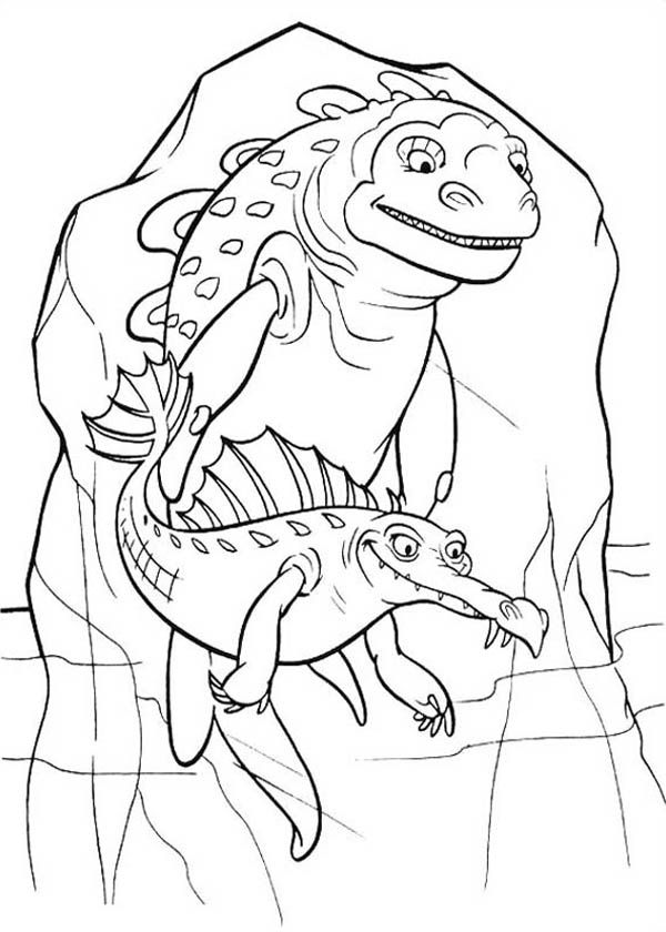 Ancient Animal Trapped In Ice Age Coloring Pages : Bulk Color