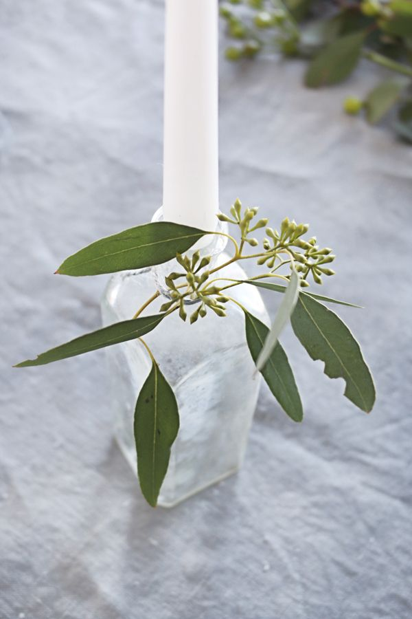 This simple spring candleholder combines all sorts of fun elements like fresh greenery and vintage glass. They will be sure to add a whimsical touch to your tabletopsthis spring!