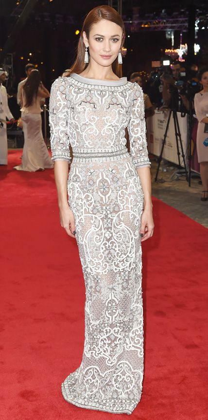 Look of the Day - December 11, 2014 - Olga Kurylenko in Ralph & Russo Couture from #InStyle