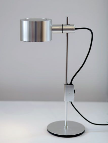 Peter Nelson; Aluminum Table Lamp, 1960s.