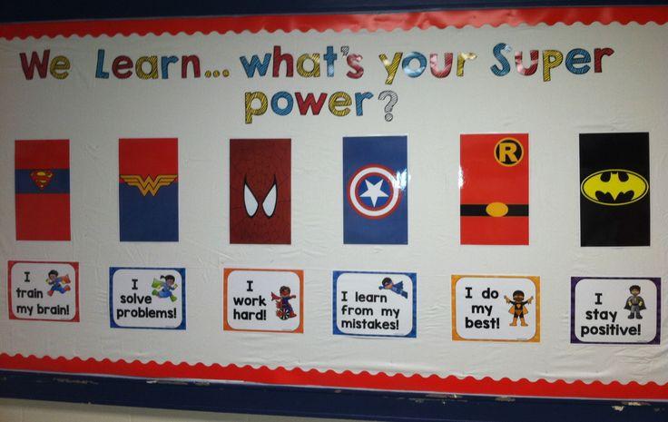 Superhero Growth Mindset Bulletin Board