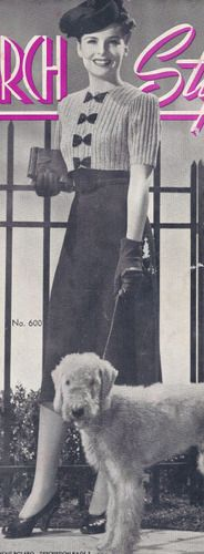 Vintage Knitting PATTERN Knitted Two Piece Dress Skirt Blouse Bolero Jacket WhitehallDress