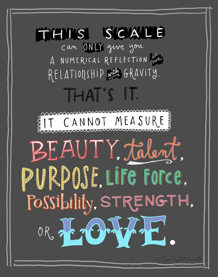 "THIS SCALE Print, in collaboration with Project HEAL: 8""x10"" Inspirational Quote Body Image. $22.00, via Etsy."