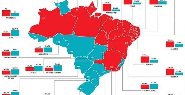 Reeleição de Dilma mostra divisão política do Brasil