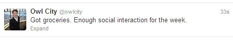 Owl City tweets