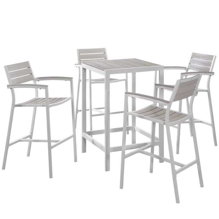 Maine 5 Piece Outdoor Patio Bar Set EEI-1755