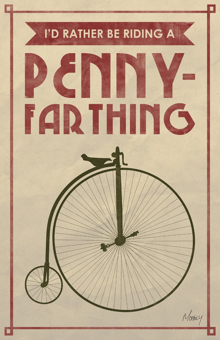 Penny-Farthing Poster. Moegly Design