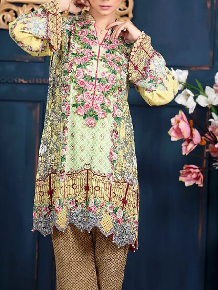 Light Green/Lime Embroidered Grip Dress (2pc) Contact: (702) 751-3523  Email: info@pakrobe.com  Skype: PakRobe