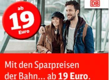 Bahn: Eine Million neue Sparpreis-Tickets für 19 bis 24 Euro https://www.discountfan.de/artikel/reisen_und_bildung/bahn-eine-million-neue-sparpreis-tickets-fuer-19-bis-24-euro.php Die Bahn hat am heutigen Donnerstag ihr Sparpeis-Kontingent massiv aufgestockt: Ab sofort und nur bis zum 19. Februar 2017 sind über eine Million zusätzliche Ticekts für 19 bis 24 Euro zu haben. Bahn: Eine Million neue Sparpreis-Tickets für 19 bis 24 Euro (Bild: Bahn.de) Die neuen Spa... #Ba