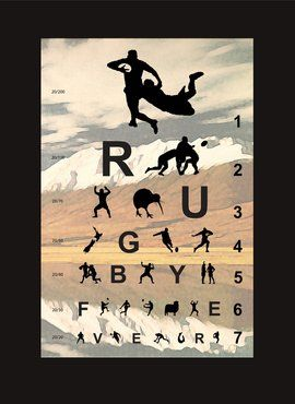 SCREENPRINT - Eye Chart for Rugby Fever 1.1 Nice work Mr Brad Novak!