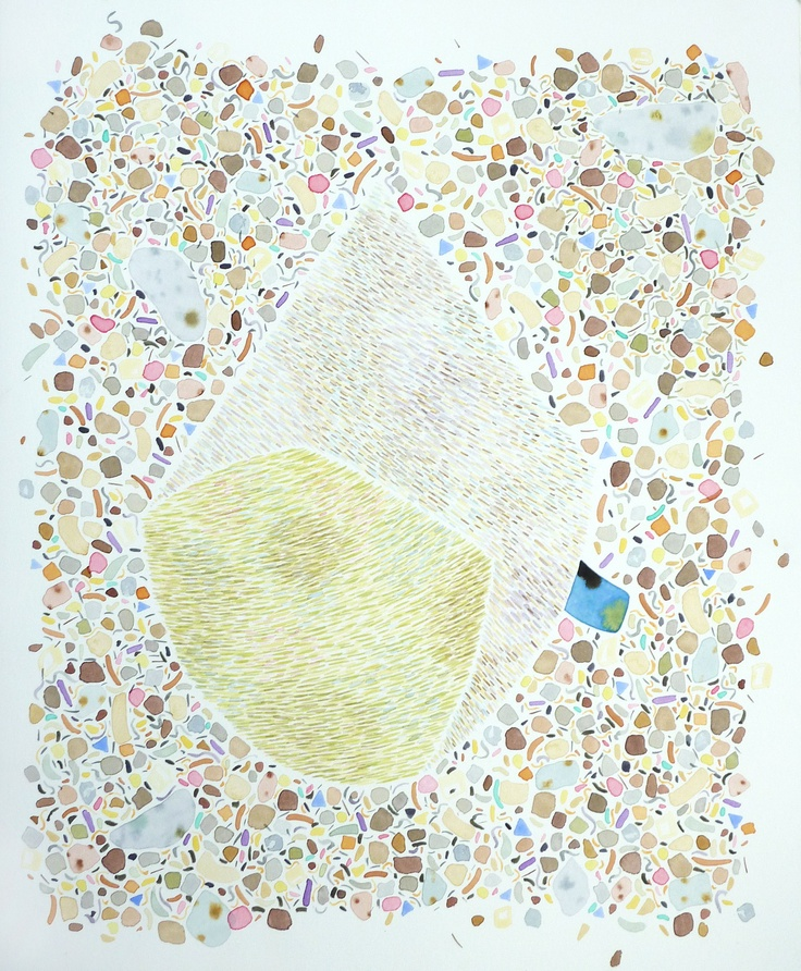 Amber Wilson, Modern Pilgrim, 2011, Watercolour on paper, (Sold)