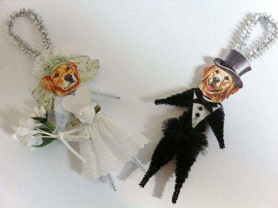 Golden Retriever BRIDE and GROOM Wedding by StanleyAndStewart, $15.00