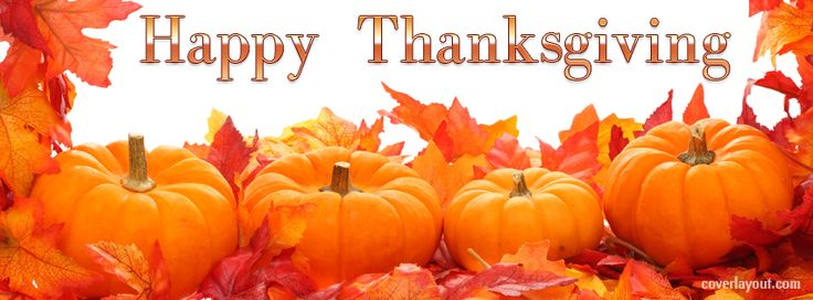 Happy Thanksgiving Pumpkins Facebook Cover CoverLayout.com