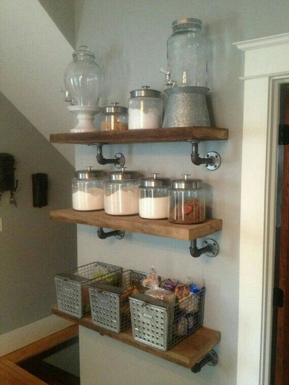 Nice shelving for soaps and stuff.