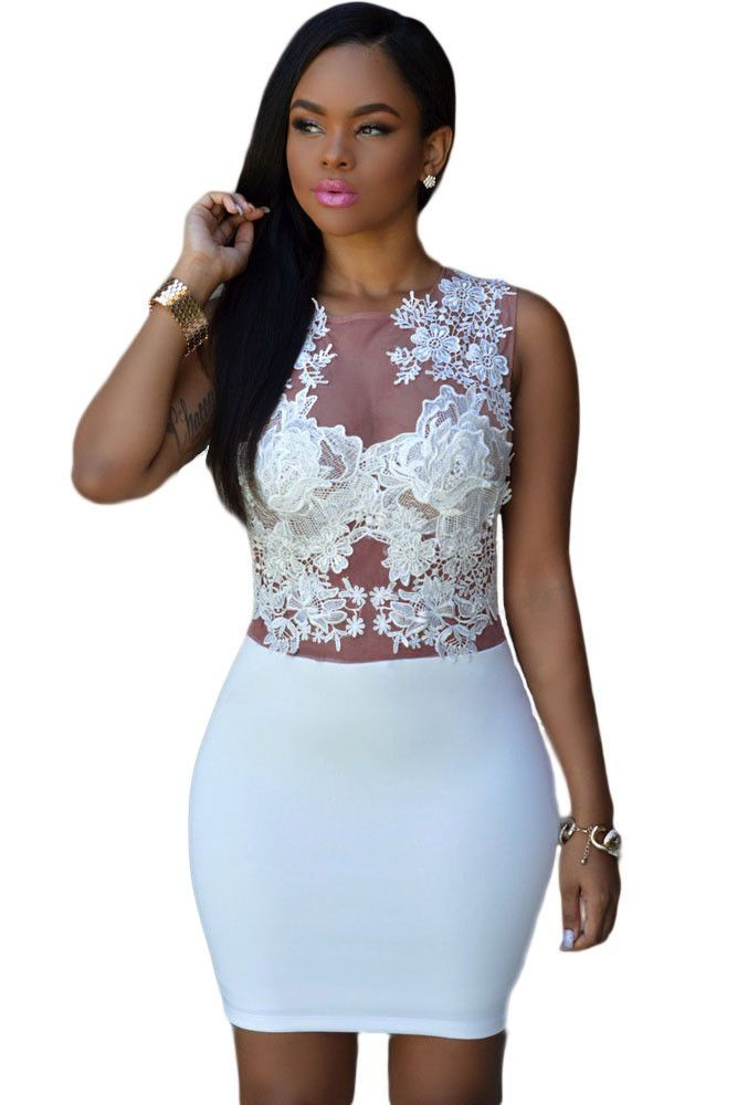 Prix: €17.26 Robes Moulantes Sizzling Floral Lace Corselet Mini Club Robe Pas Cher www.modebuy.com @Modebuy #Modebuy #Blanc #sexy #dress #me