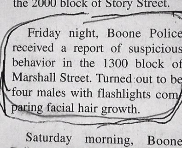 Possibly, Portland??   ; ): Beards, Laughing, Police Reports, The Police, Fal Alarm, Man Hairs, Facials Hairs, Funnies Stuff, Hairs Growth