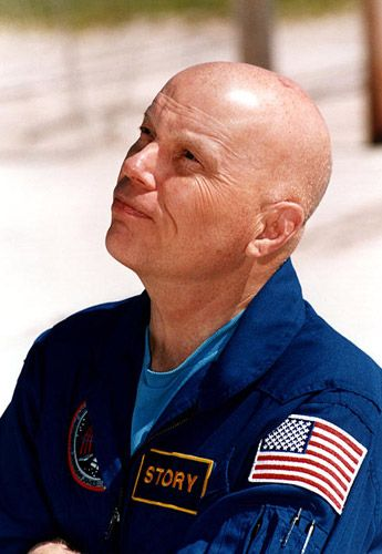 Story Musgrave:  Marine, Trauma Surgeon, Architect, Astronaut, Father of six!!  He was our neighbor and I babysat his children as a teenager......
