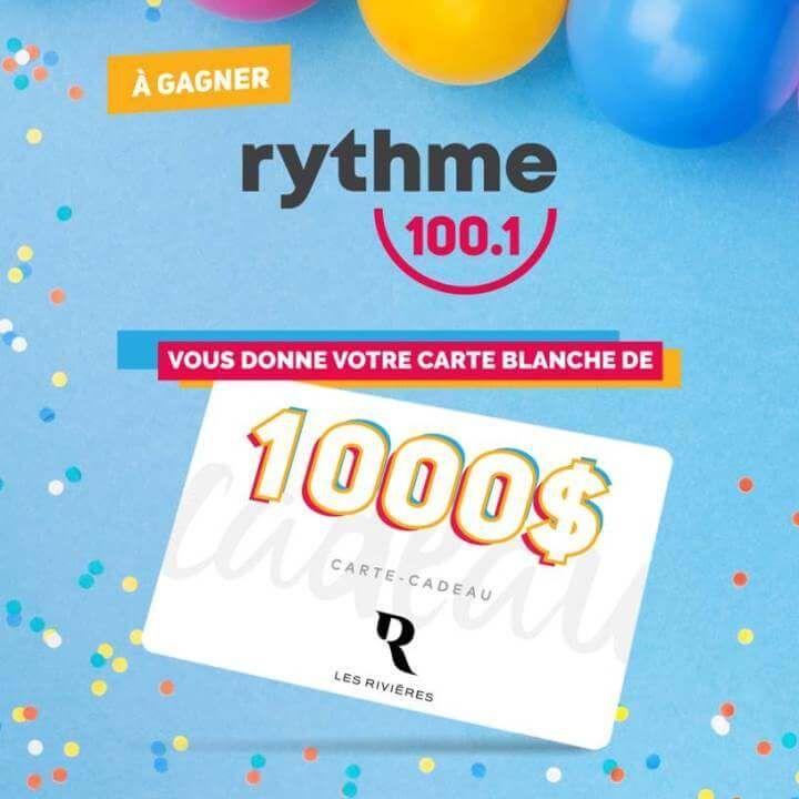 Gagnez 1000 Au Centre Les Rivieres Gagnant Concours Je Gagne