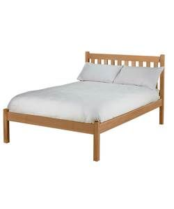 silbury bed frame solid pine with an oak stain - Double Bed Frames