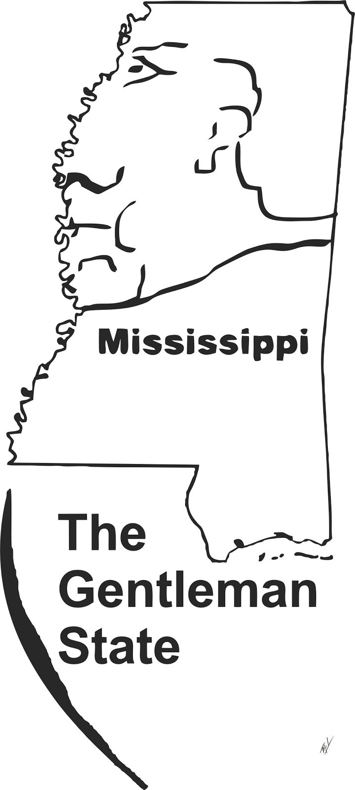 Funny maps: A funny map of Mississippi