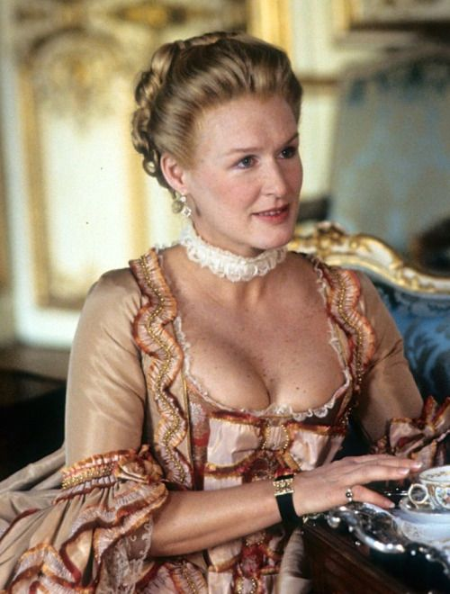 Glenn Close as the Marquise de Merteuil in Dangerous Liaisons...