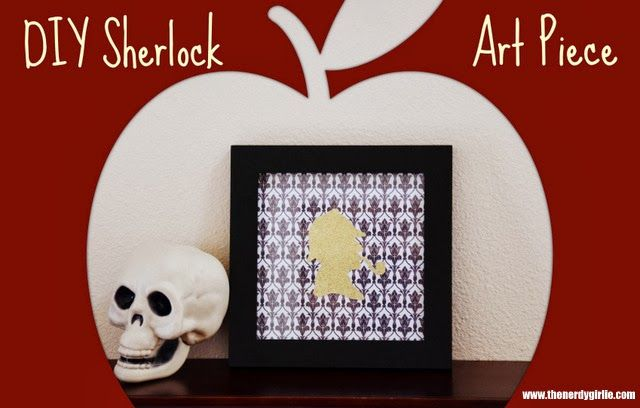 The Nerdy Girlie: Nerd Crafts: DIY #Sherlock Holmes Art Piece
