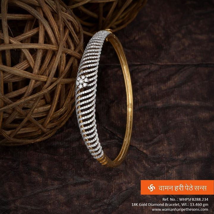 #Beautifully #crafted #adorable #exquisite #studded #gold #diamond #bracelet from our #awesome new #collection.