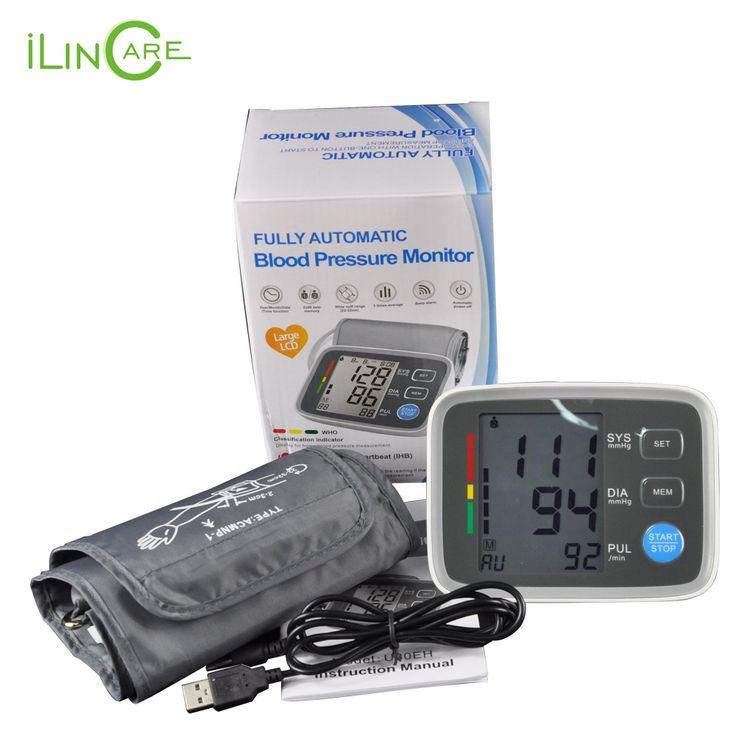 Lengan manset Tekanan Darah Digital Monitor sphygmomanometer hematomanometer tonometer pulsometros Kesehatan Monitor untuk darah jantung