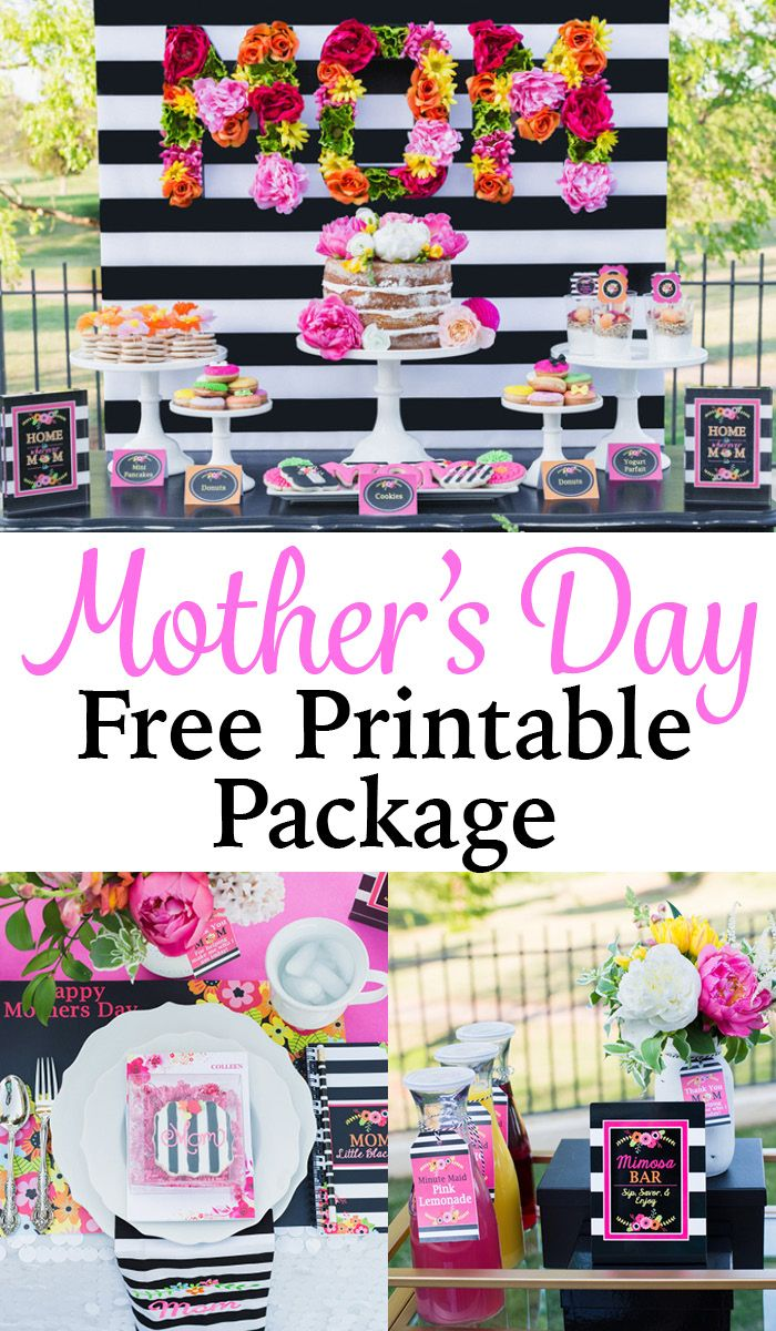 free mother 39 s day printable package beautiful free printables for a perfect mother 39 s day party. Black Bedroom Furniture Sets. Home Design Ideas