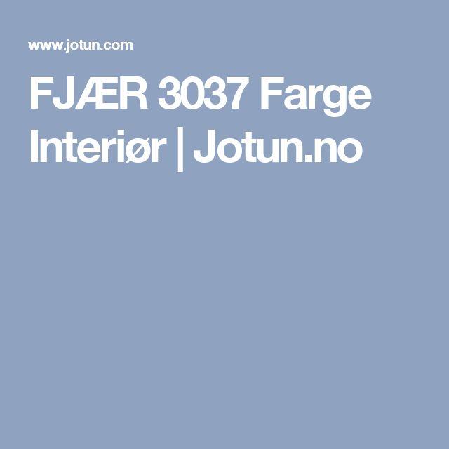FJÆR 3037 Farge Interiør | Jotun.no