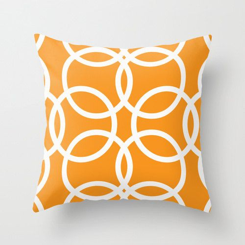 decorative throw pillow summer pillow bright orange by