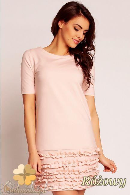 Sukienka z karbowaną falbanką marki Nommo.  #cudmoda #moda #ubrania #odziez #sukienki #styl