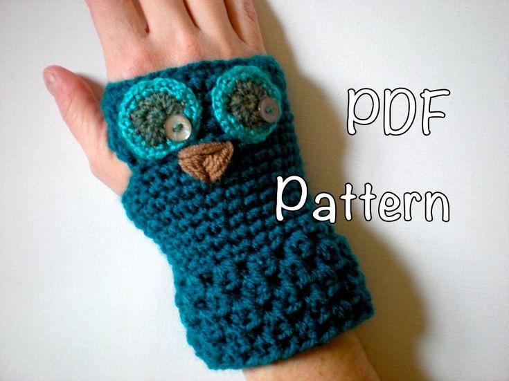 Free Crochet Pattern For Owl Hand Warmers : 17 Best images about Fingerless mitt crochet patterns on ...