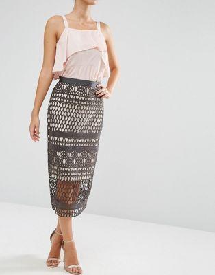 Кружевная юбка‑карандаш ASOS