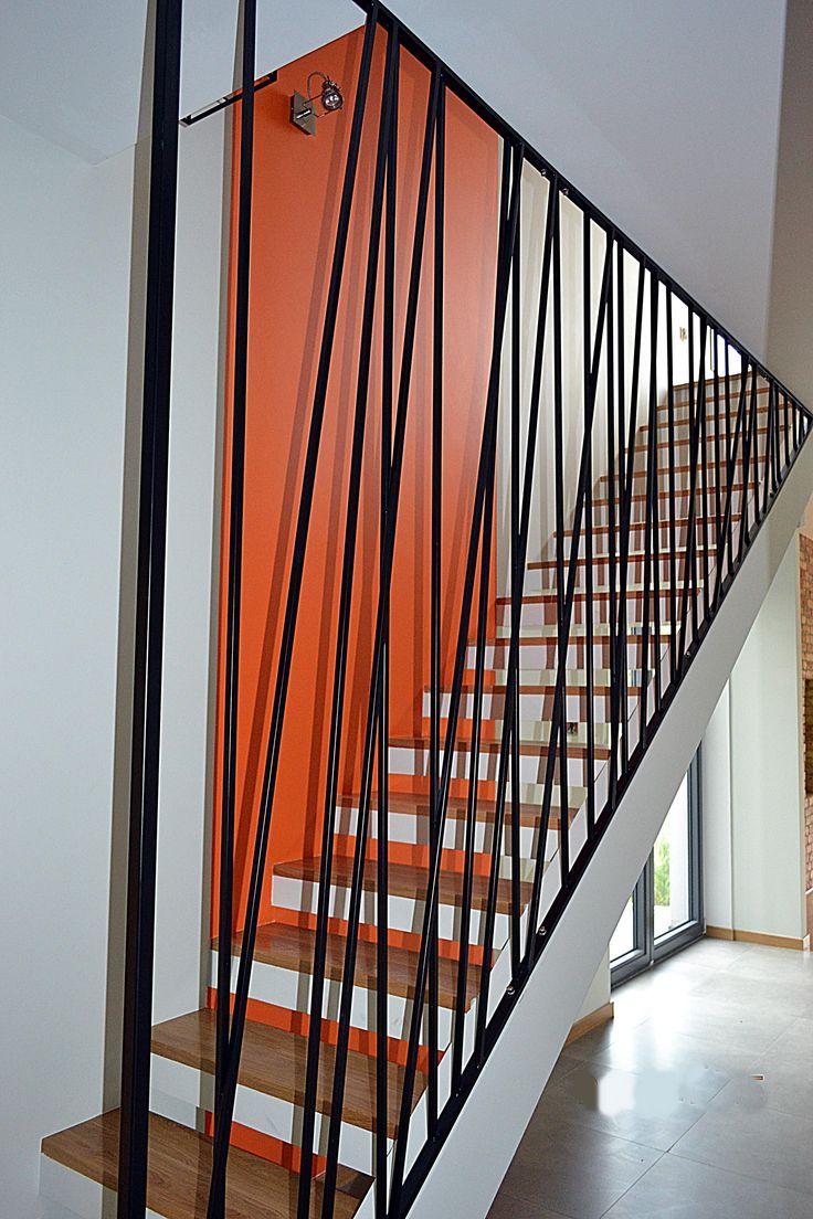 Balustrada wewn�trzna, stal czarna lakierowana � Grodzisk Mazowiecki