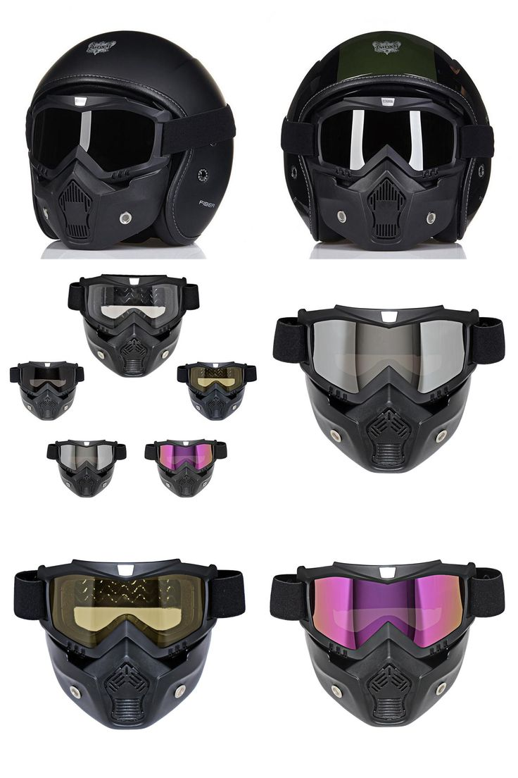 [Visit to Buy]  MJMOTO motocross helmet Mask Detachable Goggles And Mouth Filter Perfect for Open Face Motorcycle Half Helmet Vintage Helmets #Advertisement